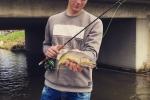 Bachforelle, 37 cm, 610 g, Streamer
